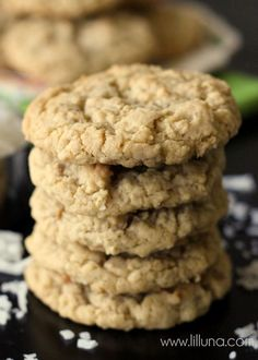 Soft and Chewy Coconut Oatmeal Cookies