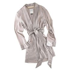 Matters of Leisure Townhouse Mini Robe / Silk Charmeuse (25.030 RUB) ❤ liked on Polyvore featuring intimates, robes, lingerie, pajamas, underwear, lingerie robe y mini robe