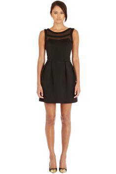 Dresses | Black Mesh Top Dress | Warehouse