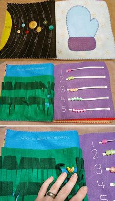 Doing Without - No-Sew, Machine-Sew or Hand-Sew Toddler's Felt Busy Book Pattern