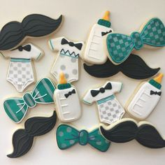 Baby Shower Cookies Baby Shower A Little Man Little Boy Cookies Mustache Cookies Treat Bags Party Favors Baby Cookies Baby Shower Table Cloths, Baby Shower Cake Pops, Baby Shower Desserts, Baby Shower Backdrop, Girl Baby Shower Decorations, Boy Baby Shower Themes, Baby Shower Signs, Baby Boy Shower, Bow Tie Cookies