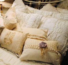 beautiful vintage pillows | Handmade vintage inspired pillows.