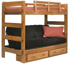 boone twin over futon bunk bed