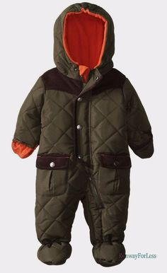 New Rothschild Baby Snowsuit Boys Pram BUNTING 0 6 Months Olive Green QUILTED #Rothschild #Snowsuit #Everyday