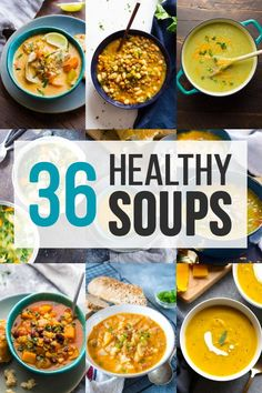 Healthy Soup Recipes 36 healthy soup recipes to warm you up this fall! Tons of easy soup recipes that are healthy and simple to prepare. via Sweet Peas & Saffron Best Healthy Soup Recipe, Healthy Crockpot Recipes, Healthy Dinner Recipes, Healthy Soups, Keto Recipes, Vegetarian Recipes, Easy French Recipes, Easy Soup Recipes, Sweet Recipes
