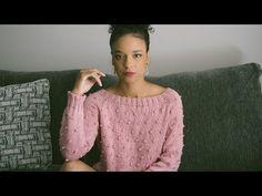 Top Down, Knitting Videos, Pulls, Knitwear, Free Pattern, Knitting Patterns, Pullover, How To Wear, Women