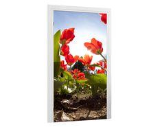 Türtapete Blumenbeet Tapeten & Farben Türtapeten
