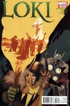 Loki (2010 2nd Series Marvel) 3 Marvel Comics Modern Age Comic book covers Super Heroes Villians