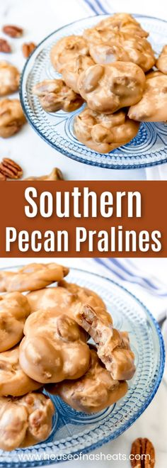 There is nothing like old-fashioned Southern Pecan Pralines! This melt-in-your-mouth treat is a cross between a cookie and a candy and it's loaded with crunchy pecans, butter, and fabulous brown sugar flavor. Köstliche Desserts, Best Dessert Recipes, Sweet Recipes, Cookie Recipes, Snack Recipes, Candy Recipes, Pasta Recipes, Recipes Dinner, Potato Recipes