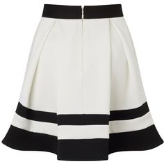 Ariana Grande For Lipsy Stripe Mini Skater Skirt ($54) ❤ liked on Polyvore featuring skirts, mini skirts, bottoms, flared mini skirt, striped skirt, lipsy, striped mini skirt and circle skirt