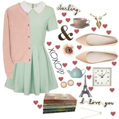 hello love- Romantic, vintage, sweet, soft and feminine
