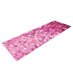 "Ebi Emporium ""Romance Me"" Pink Glitter Yoga Mat"