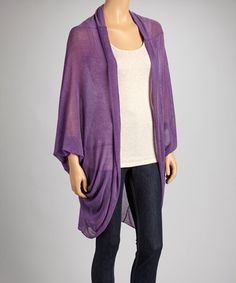Take a look at this Amethyst Open Cardigan by DISTRICT on #zulily today! $59 !!
