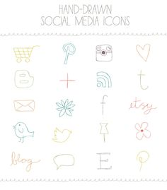 Social Media Icons. $5.00, via Etsy.