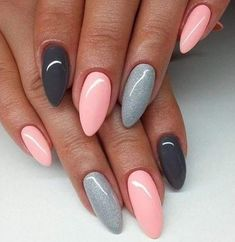 100 Long Nail Designs 2019 Ideas in our 100 Long Nail Designs 2019 Ideas in our App. New manicure ideas for long nails. Trends 2019 in nails nail design New manicure ideas for long nails. Trends 2019 in nails nail design Dusty Pink Nails, Purple And Pink Nails, Barbie Pink Nails, Bright Pink Nails, Pink Nail Art, Gray Nails, Gel Nail Art, Pink Grey, White Ombre