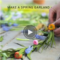 Terrain How-To: Spring Floral Garland #shopterrain #spring #floral #garland http://www.shopterrain.com/article/how-to-spring-floral-garland/
