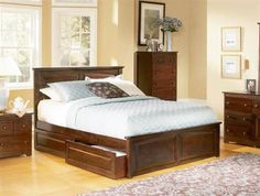 Monterey Antique Walnut Solid Wood Twin Bed w/Raised Panel Footboard
