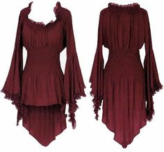 Women's Gypsy Bohemian Peasant Top by BBW Boutique in Sienna