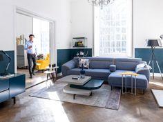 Stylish Blue. Klassieke elementen van Italiaans design. Minimalistisch, modern en luxueus met oog voor detail. Sofa Italo Xooon