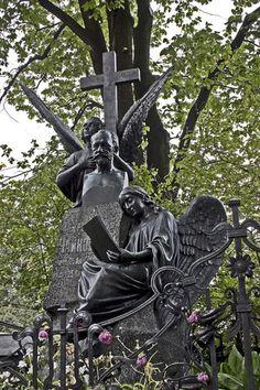 Tchaikovsky's grave site, Tikhvin Cemetery, Alexander Nevsky Monastery. Rimsky-Korsakov, Borodin, Mussorgsky, Glinka, and Balakirev are buried nearby.