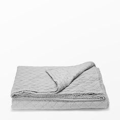 Överkast 160x240 cm, grå