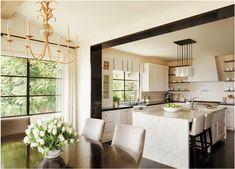 Laguna Beach Spanish Revival Home — Oatman Architects Orange County, Spanish Revival Home, Spanish Colonial, Spanish Style, Dining Area, Dining Room, Kitchen Views, Iron Chandeliers, Modern Aesthetics