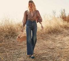MELODY JEAN -- SAINT EMILION WASH             | DÔEN Fall Jeans, Mom Jeans, St Emilion, Shank Button, Dark Denim, Classic Looks, Bell Bottom Jeans, Perfect Fit, Saints