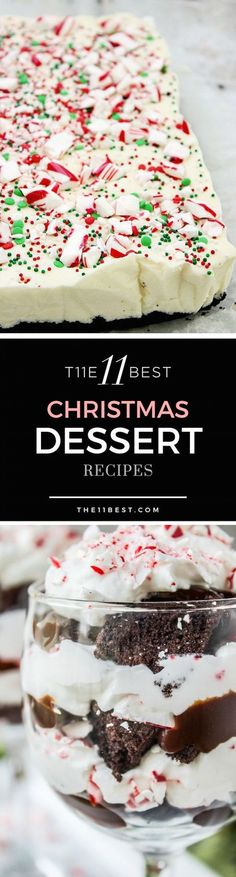 The Best Homemade Christmas Dessert Recipes. The trifle recipe looks amazing!