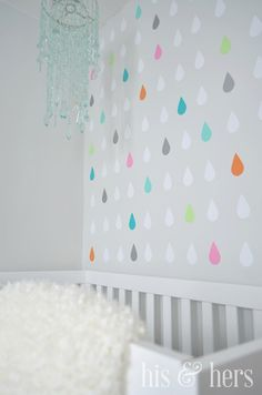 raindrops accent wall