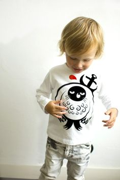 Mister Black, baby, toddler, kids short- or longsleeve shirt. €29.00, via Etsy.