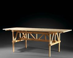 Enzo MARI (Né en 1932) Table F - création 1974 Pin naturel