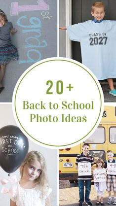 It is so fun looking back at last years school photos and seeing how much my kids have grown. Sharing some ideas today on how you can create memorable photos of your kids with these adorable First Day of School Photo Ideas! 1st Day Of School, Going Back To School, Too Cool For School, School Days, Fun Activities For Kids, Infant Activities, Games For Kids, Family Activities, Back To School Organization