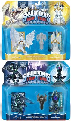 Includes Knight Mare, Midnight Museum, and Dark Spider Trap. Spider Traps, Skylanders, The Expanse, Light In The Dark, Knight, Packing, Box, Kids, Emerald