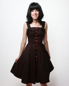 Hell Bunny Gery 50's Polka Dot Dress!!!  I'll take one in every color they have!!