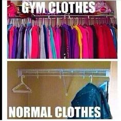 weight loss nutrition health tips health and fitness gym workout Ha! this has already happened.I NEVER have normal clothes to wear =( Crossfit Humor, Gym Humour, Crossfit Quotes, Exercise Humor, Men Exercise, Fitness Motivation, Fitness Quotes, Fitness Humor, Funny Fitness