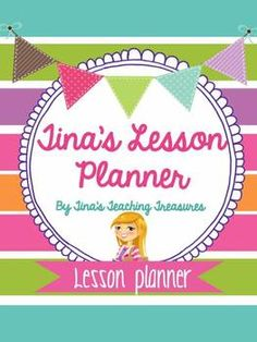 Free for a limited Time- Lesson Planner / Teacher Binder! Cute, preppy colours, easy to read two page layout, weekly and monthly overviews! Check it out!