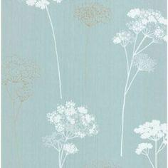 Dulux Meadowsweet Wallpaper - Teal from Homebase.co.uk