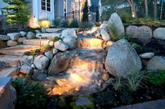 Marvelous Top 25+ Beautiful Waterfall On a Budget For Your Small Backyard Ideas https://freshouz.com/top-25-beautiful-waterfall-budget-small-backyard-ideas/ #home #decor #Farmhouse #Rustic