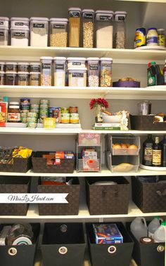 From A Purple Chair: Pantry Organization Kitchen Pantry, Kitchen Hacks, Kitchen Storage, Kitchen Ideas, Home Organisation, Pantry Organization, Secret Organizations, Purple Chair, Pantry Design