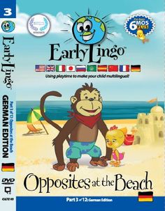 Early Lingo Opposites at The Beach DVD Part 3 German ** For more information, visit image link.