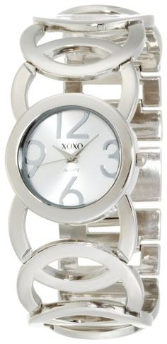 XOXO Women's XO5210 Silver Dial Silver-tone Open Link Bracelet Watch - Find Me The Cheapest Sale Price: $19.99