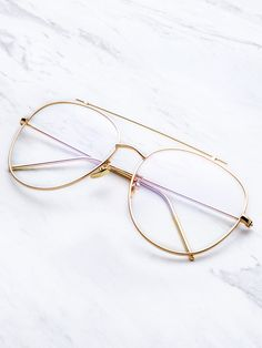 Shop Gold Frame Clear Lens Double Bridge Glasses online. SheIn offers Gold Frame Clear Lens Double Bridge Glasses & more to fit your fashionable needs.