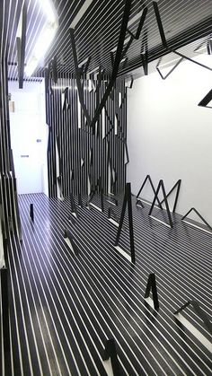 Esther Stocker,What I don't know about space, 2008, installation view