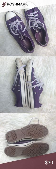 Purple converse! Excellent used condition. Worn sparingly over a couple of years. They stopped fitting me after two kids  - my loss your gain! Converse Shoes Sneakers