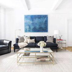 A pop of #blue. {#interiordesign by @justindipiero via @homepolish} #interiors #interiorinspiration