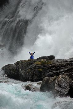 "Music - Beautiful Norway - ""Taken at Kjosfossen Waterfall on the train journey from Myrdal to Flåm, Norway."""