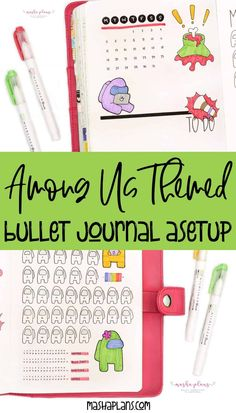 Want to bring your favorite game to your Bullet Journal pages? Join me as I create 'Among Us' themed Bullet Journal setup! Cover page, monthly log, habit tracker, mood tracker, and gratitude log. #mashaplans #amongus #planwithme #plannerlove Bullet Journal Themes, Bullet Journal Layout, My Journal, Journal Pages, Journals, Magic Theme, Mood Tracker, So Creative, Printable Planner Stickers