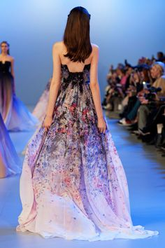 Elie Saab Spring 2014 Spring Summer Fashion, Spring 2014, Summer 2014, Elie Saab Couture, Elie Saab Spring, Strapless Dress Formal, Formal Dresses, I Dress, Pretty Dresses