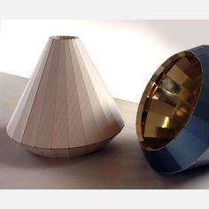 wooden pendant light . designed by David Derksen .