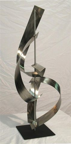 Abstract metal sculpture - stainless steel